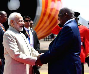 Kampala (Uganda): PM Modi arrives in Uganda