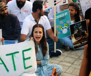 Dia Mirza at Global Climate Strike protest