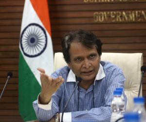 Suresh Prabhu during a media interaction