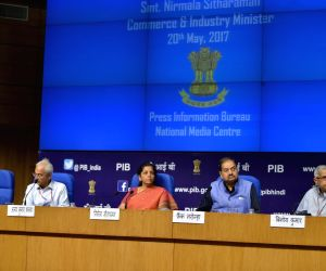 Nirmala Sitharaman addressing a press conference