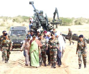 Pokhran (Rajasthan): Nirmala Sitharaman visits Pokhran Field Firing Range