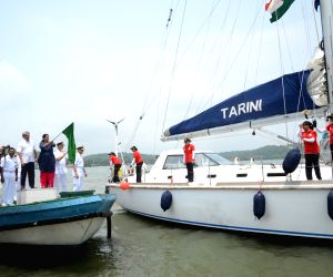 Nirmala Sitharaman flags off the 'Navika Sagar Parikrama' - the global circumnavigation by an all-women Indian Navy crew