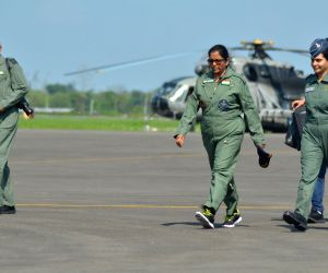 Nirmala Sitharaman visits Chabua for IAF Gaganshakti exercise