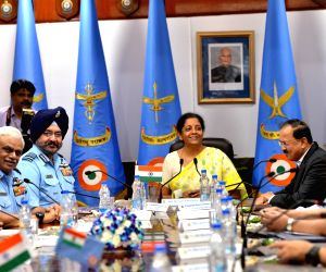 Nirmala Sitharaman, Chief of the Air Staff, B.S. Dhanoa at Air Force Commanders Conference