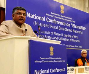 """National Conference on """"BharatNet and its Utilization with States"""" - Ravi Shankar Prasad"""