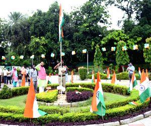 Prakash Javadekar hoists the national flag on 74th Independence Day