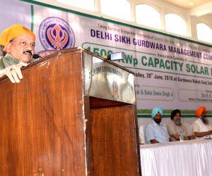 Inauguration of Rooftop solar plant at Gurdwara Rakab Ganj Sahib