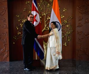 Sushma meets North Korean Foreign Minister