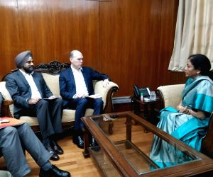 Nirmala Sitharaman meets Vodafone Group CEO