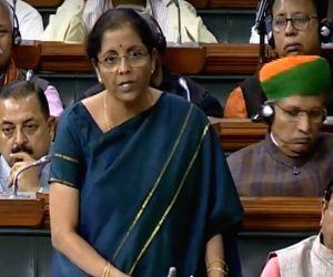 Nirmala Sitharaman speaks in the Lok Sabha