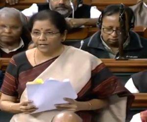 Budget Session of Parliament - Nirmala Sitharaman speaks in the Lok Sabha