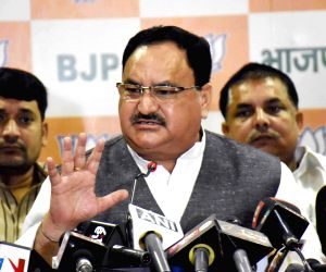 J P Nadda's press conference