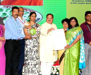 J.P. Nadda presents Kayakalp Awards