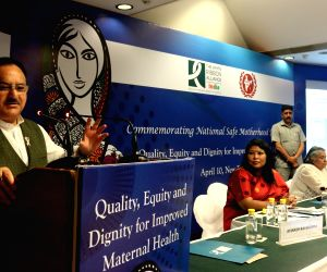 "New Delhi:Nadda during a programme on ""Quality, Equity and Dignity For Maternal Health"