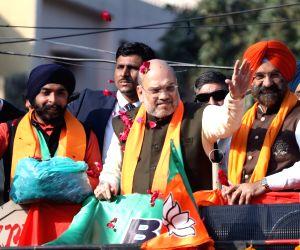 Amit Shah holds roadshow at Hari Nagar ahead of Delhi Polls 2020