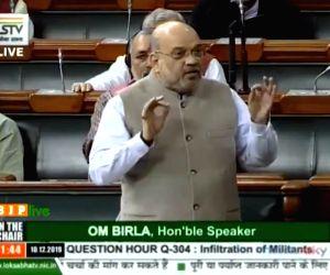Amit Shah in the Lok Sabha