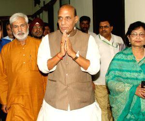 Home Minister at a media seminar