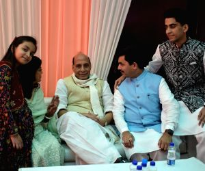 Rajnath Singh celebrates Eid-Ul-Fitr with BJP leader Syed Shahnawaz Hussain