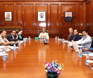 Rajnath Singh chairs a review meeting on cyber crime