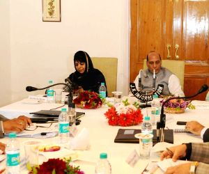 Review meeting on implementation status of PMDP-2015 - Rajnath Singh, Mehbooba Mufti