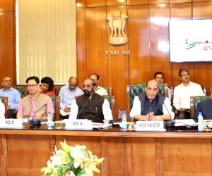 Rajnath Singh during a meeting
