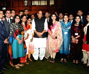 Rajnath Singh interacts with IAS probationers