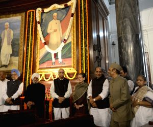 Tribute to Nehru at the Central Hall of Parliament