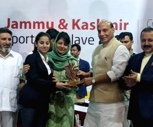 Rajnath Singh at Jammu and Kashmir Sports Conclave-2018