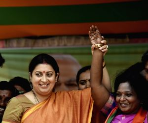 Smriti Zubin Irani during a BJP rally