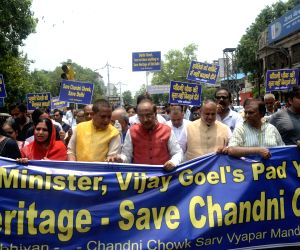 "Vijay Goel's ""Save Heritage"" march"