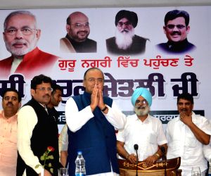 Arun Jaitley during BJP-Shiromani Akali Dal meeting