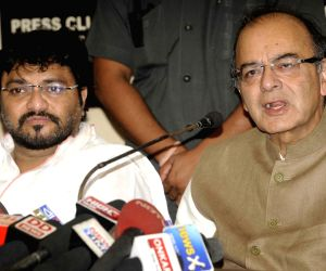 Arun Jaitley during a press conference