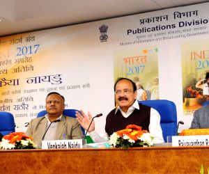 Venkaiah Naidu releases Reference Annual book India-2017 and Bharat-2017