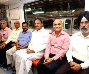 Trial run of India's first-ever driver-less metro train
