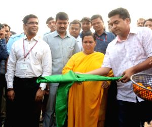 Trash skimmer boat for Yamuna river flagged-off