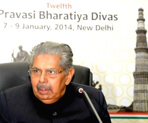 Press conference on Pravasi Bharatiya Divas 2014