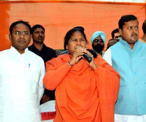 Sadhvi Niranjan Jyoti during an election campaign