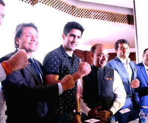 Vijender Singh, Vijay Goel addressing program on olympics