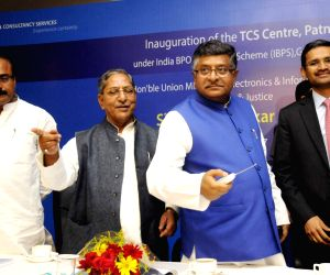 Ravi Shankar Prasad during inauguration of TCS
