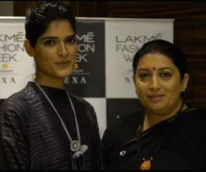 Smriti Irani shares story of Rajasthani model