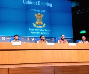 Cabinet briefing by Mansukh L. Mandaviya, Ravi Shankar Prasad and Prakash Javadekar