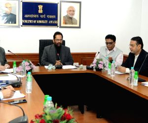 Mukhtar Abbas Naqvi chairs a meeting of MAEF