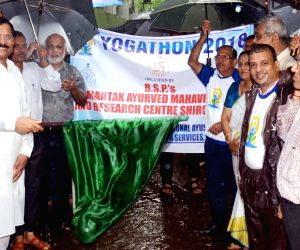 """Shripad Yesso Naik flaggs off """"Yogathon - 2018"""