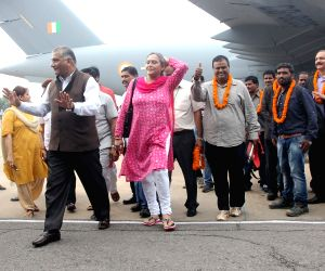 Indians evacuated from South Sudan arrive at Palam Airport