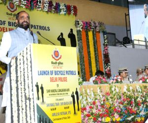 Hansraj Gangaram Ahir launches Delhi Police's Bicycle Patrols