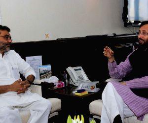 Upendra Kushwaha calls on Prakash Javadekar