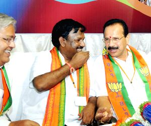 Sadananda Gowda during BJP meeting