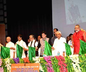 Union Railway Minister Piyush Goyal, Bihar Chief Minster Nitish Kumar, Deputy Chief Minister Sushil Kumar Modi and Union Ministers RK Singh, Ashwini Choubey, Giriraj Singh and Ram Kripal Yadav ...