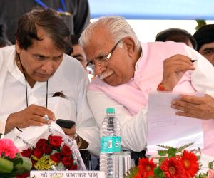 Suresh Prabhu launches development projects in Haryana