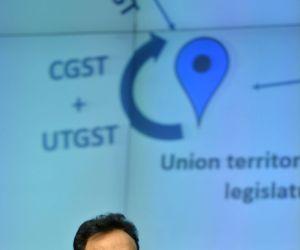 Revenue Secretary Hasmukh Adhia addressing GST Conclave